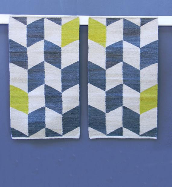 alfombra-costado-de-cama-flechas-verde-limon