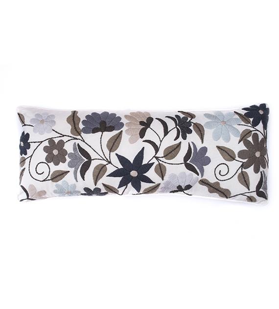 Pie de cama flor nueva neutro 80x230 mantas tienda de - Mantas pie de cama ...