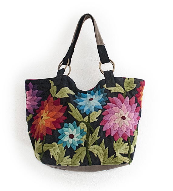 cartera-bordada-girasoles-negra